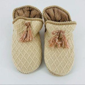 SPORTO Knit Tassel Plush Soft Slip-in Slipper Boot